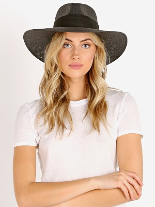 Janessa Leone Rose Packable Hat Black