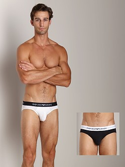 Emporio Armani Stretch Cotton 2-Pack Brief White/Black