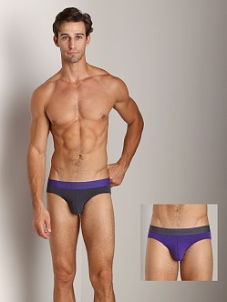 Emporio Armani Stretch Cotton 2-Pack Brief Violet/Charcoal