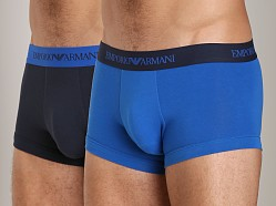Emporio Armani Stretch Cotton 2-Pack Trunk Royal/Marine