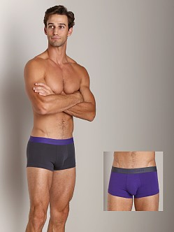Emporio Armani Stretch Cotton 2-Pack Trunk Violet/Charcoal
