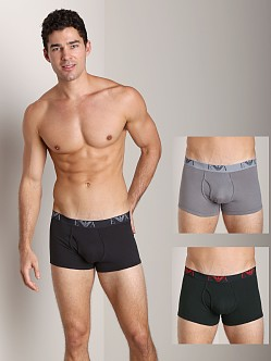 Emporio Armani Jersey Cotton 3-Pack Trunk Charcoal/Steel/Alga