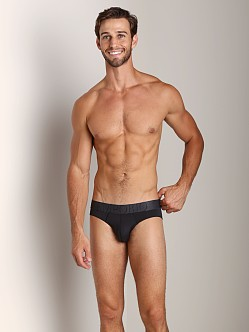 Emporio Armani Big Eagle Microfiber Brief Black
