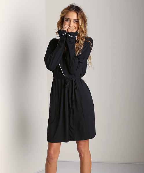 WILDFOX Room Service Robe Black