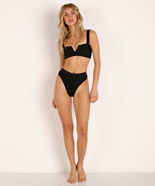 e7f5c820cf L Space Frenchi Bikini Bottom Black Rib RHFRB17 - Free Shipping at Largo  Drive