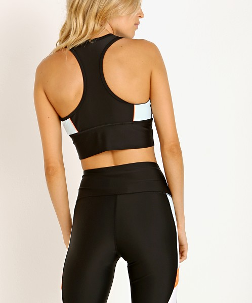 PE NATION Acceleration Sports Bra Black with Mint