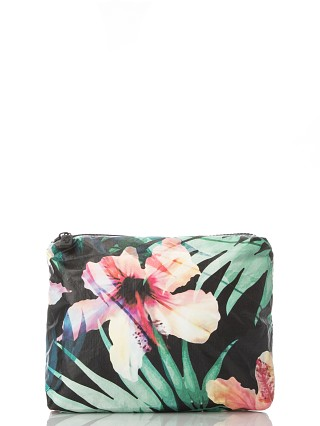 Aloha Small Hibiscus Palm Splash Proof Zipper Bag