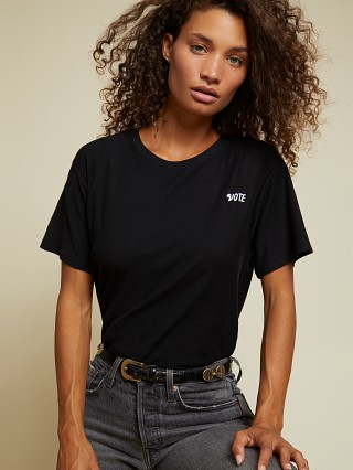 Model in black Nation LTD Vote Relaxed Boxy Tee
