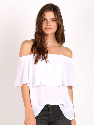 Show Me Your Mumu Bungalow Top White Crisp