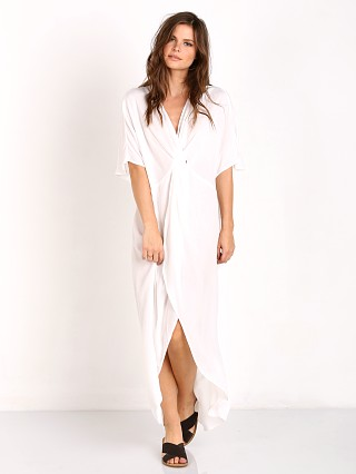 Show Me Your Mumu Get Twisted Maxi Dress White Crisp
