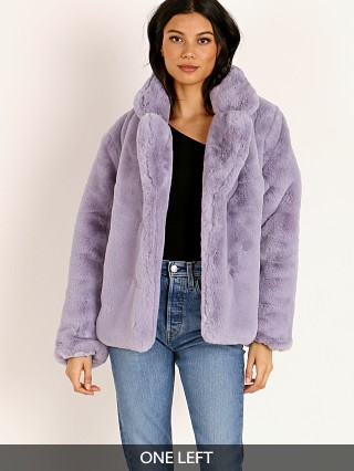 Model in lilac APPARIS Manon Coat
