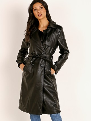 APPARIS Lucia Vegan Leather Trench Jacket Black