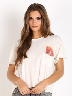 WILDFOX Save it for Later Country Side Pocket Tee Vintage Lace