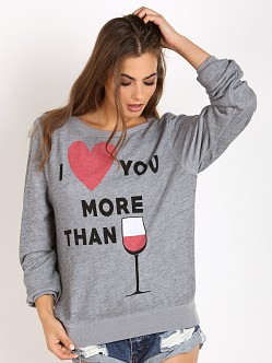 WILDFOX I Love You More Than Baggy Beach Jumper Vintage Lace