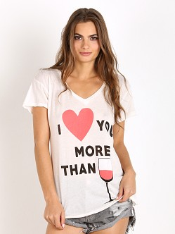 WILDFOX I Love You More Than Easy V Vintage Lace
