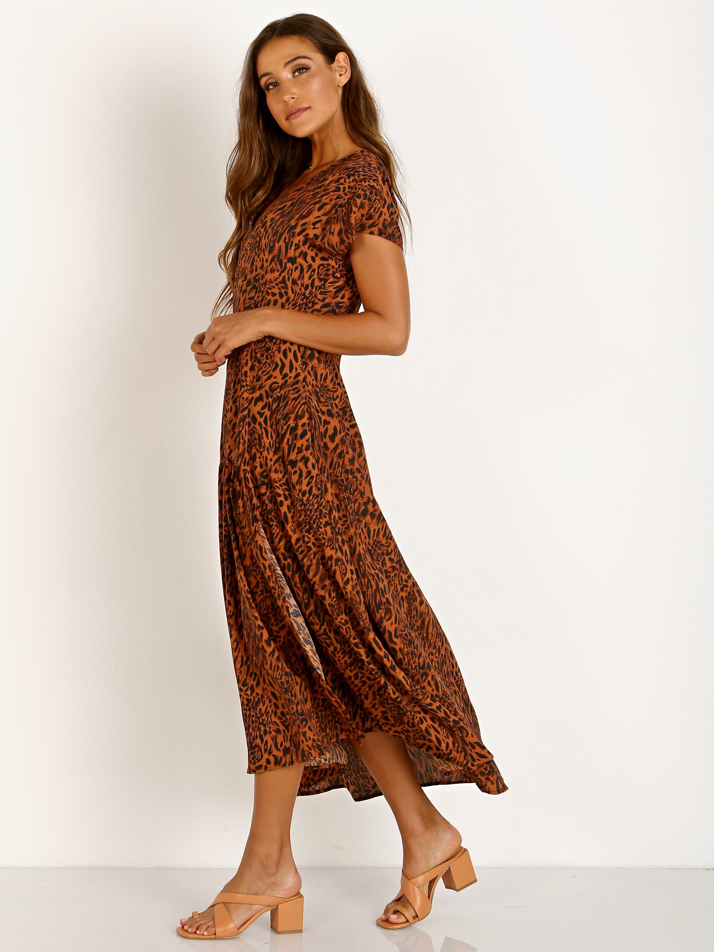 7f11a840e6 ASTR the Label Beau Maxi Rust Leopard ACDR100274 - Free Shipping at Largo  Drive