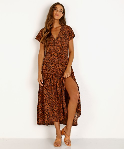 ASTR the Label Beau Maxi Rust Leopard
