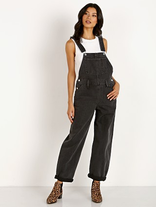Model in loose cannon Levi's Baggy Overalls