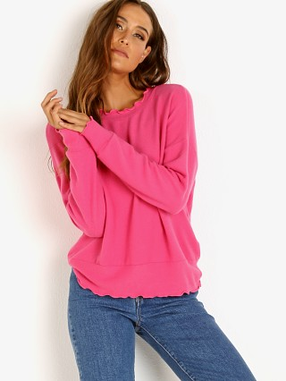LNA Clothing Brushed Nora Sweater Magenta