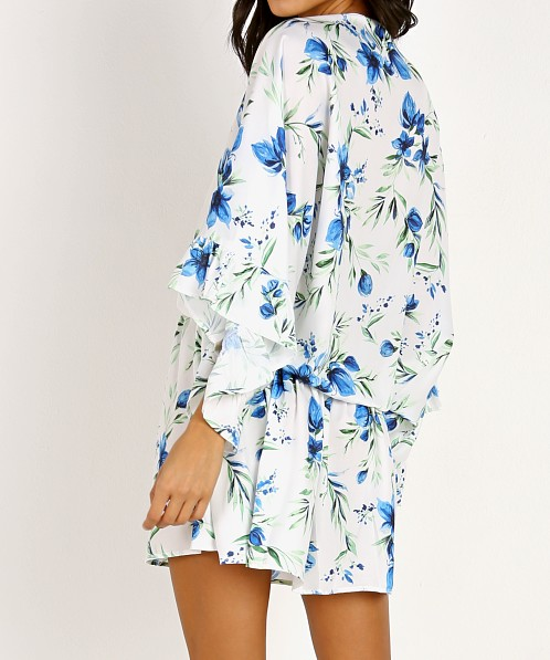 Beach Riot Brynne Dress/Robe White Floral