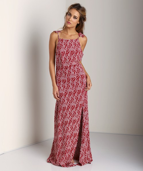 Stone Cold Fox Helmut Gown Red/White Print