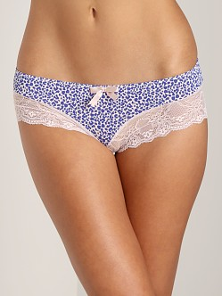 Eberjey Kitty Cat Brief Blush/Cobalt