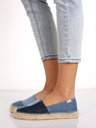 Soludos Patchwork Original Platform Denim