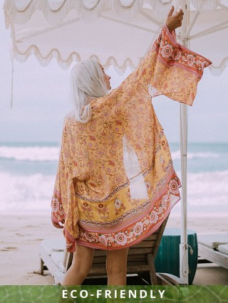 Spell & The Gypsy Portobello Road Short Robe Mustard Seed
