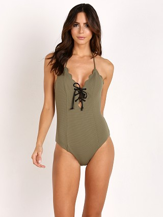 Marysia Broadway Tie Maillot Olive/Black