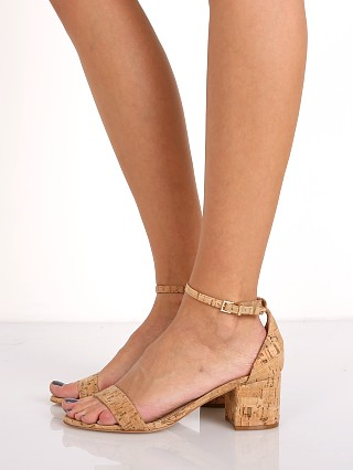 Model in natural Schutz Chimes Cortica Block Heel