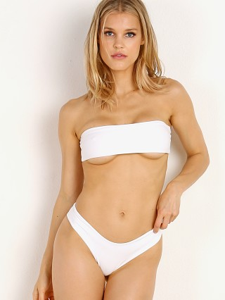 Indah Toss Sleek Bandeau Bikini Top White