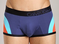 Calvin Klein Bold Micro Color Block Low Rise Trunk Maui Blue