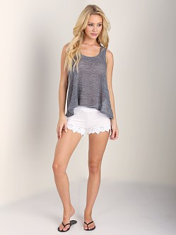 Nightcap Island Waves Crop Tank Charcoal