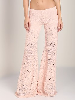 Nightcap Spanish Fan Lace Pant Soft Peach