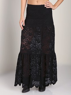 Nightcap Spanish Lace Skirt Black
