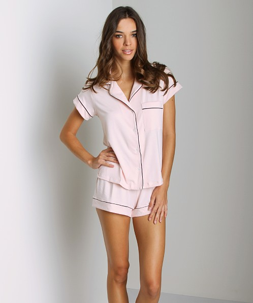 Eberjey Gisele Short PJ Set Sorbet/Pebble