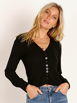 LNA Clothing Lana Cardigan Black