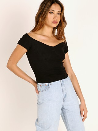 LNA Clothing Seabra Top Black