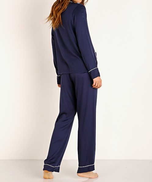 Splendid Notch Collar PJ Set Midnight Navy
