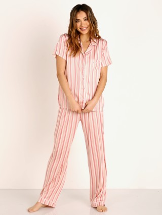 Splendid Notch Collar PJ Set Mauve Chalk