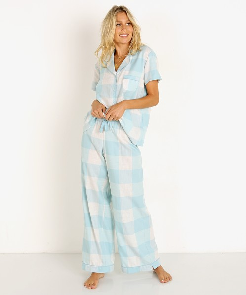 Splendid Notch Collar PJ Set Sea Angel Buffalo Plaid