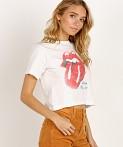 cc5e3c2ff92c8 Daydreamer Rolling Stones '89 Rebel Crop Tee Vintage White ...