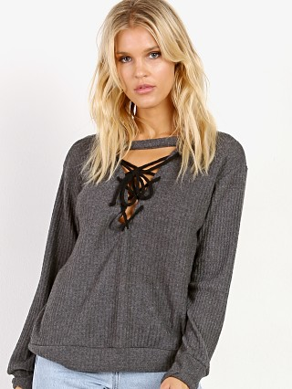 LNA Clothing Laced Up Waffle Grey