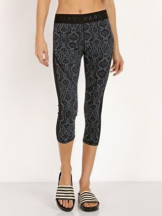 Varley Alden Cropped Tight Midnight Python