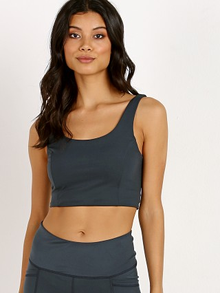 Model in deep sea Varley Polly Sports Bra
