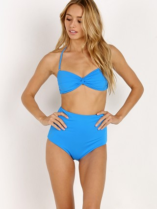Mara Hoffman Chey Bikini Top New Blue China