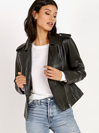 BB Dakota Mathew Textured Leather Jacket Black