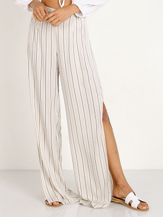 BB Dakota Rebekah Wide Leg Pant Mushroom Stripe