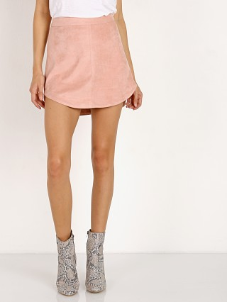 BB Dakota Annette Faux Suede Skirt Pink Lemonade