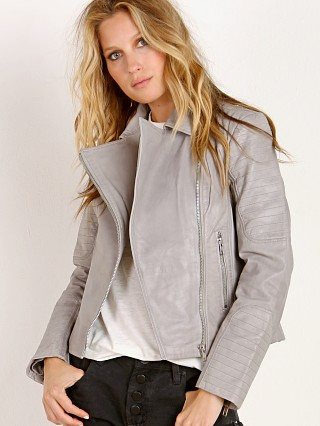 BB Dakota Braelyn Leather Jacket Stone Grey